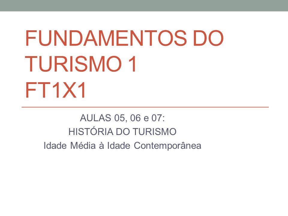 FUNDAMENTOS DO TURISMO 1 FT1X1 AULAS 05, 06 e 07: HISTÓRIA DO TURISMO Idade Média à Idade Contemporânea