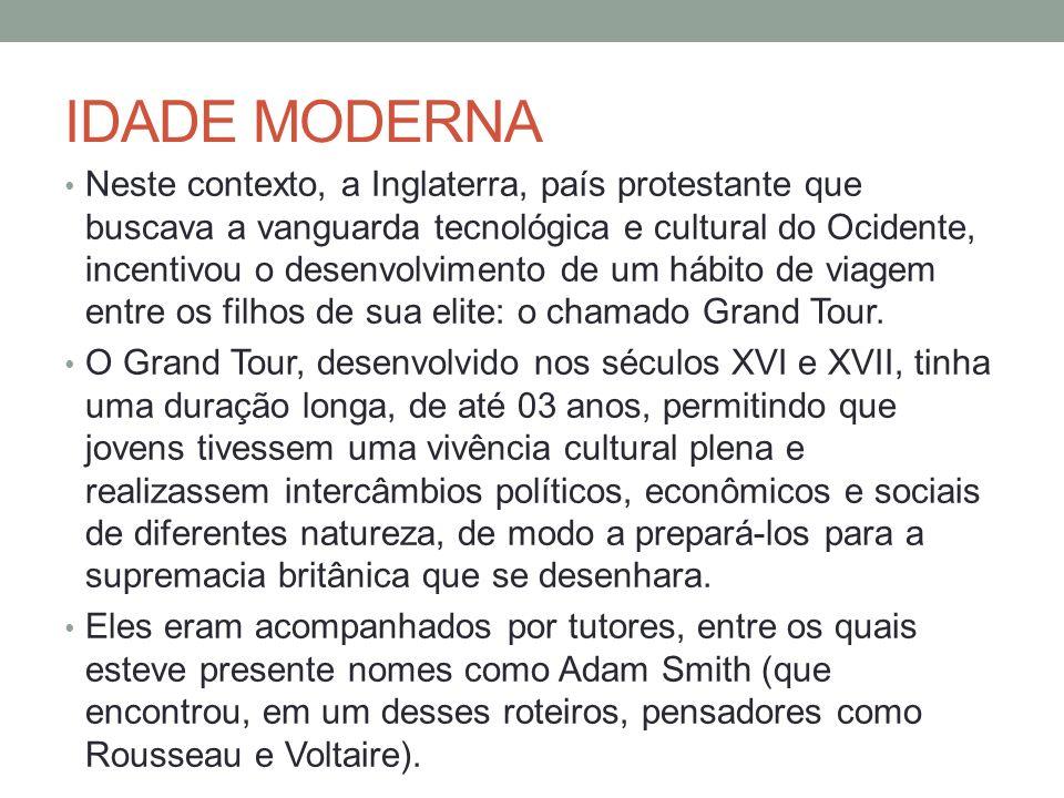 SÉCULO XX: CONSOLIDAÇÃO DO TURISMO A massificação trouxe uma velocidade sem precedentes nas transformações dos destinos, estruturas e serviços.