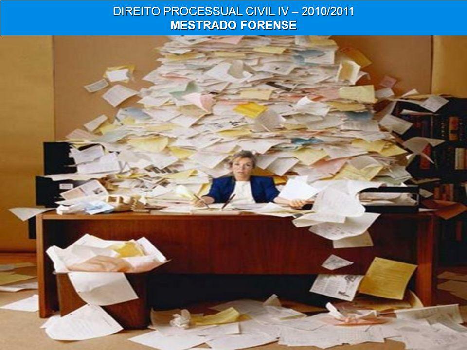 30 DIREITO PROCESSUAL CIVIL IV – 2010/2011 MESTRADO FORENSE