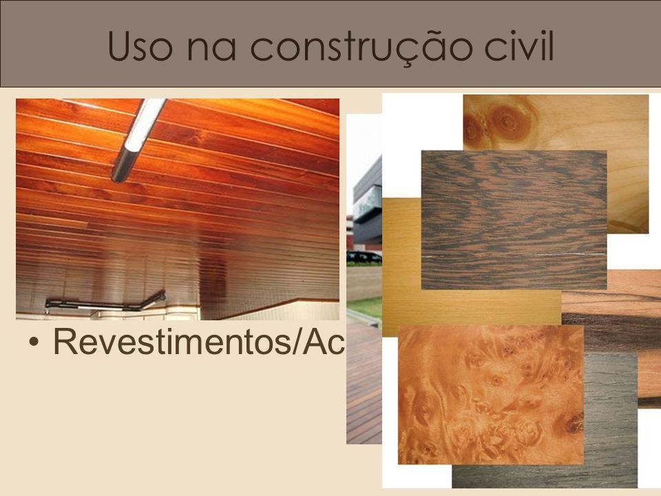 Uso na construção civil Revestimentos/Acabamentos.