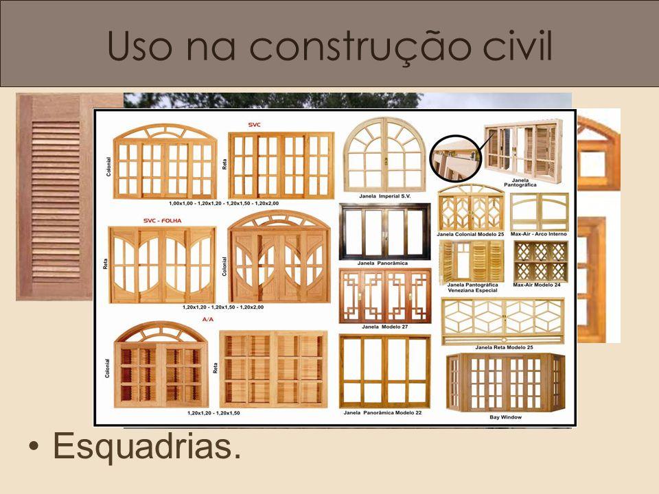 Uso na construção civil Esquadrias.