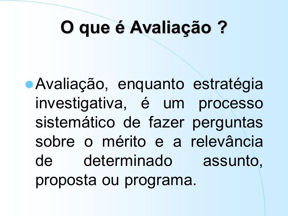 Dimensões da avaliação (Penna Firme, 2003) – Utilidade – Viabilidade – Ética – Precisão da técnica