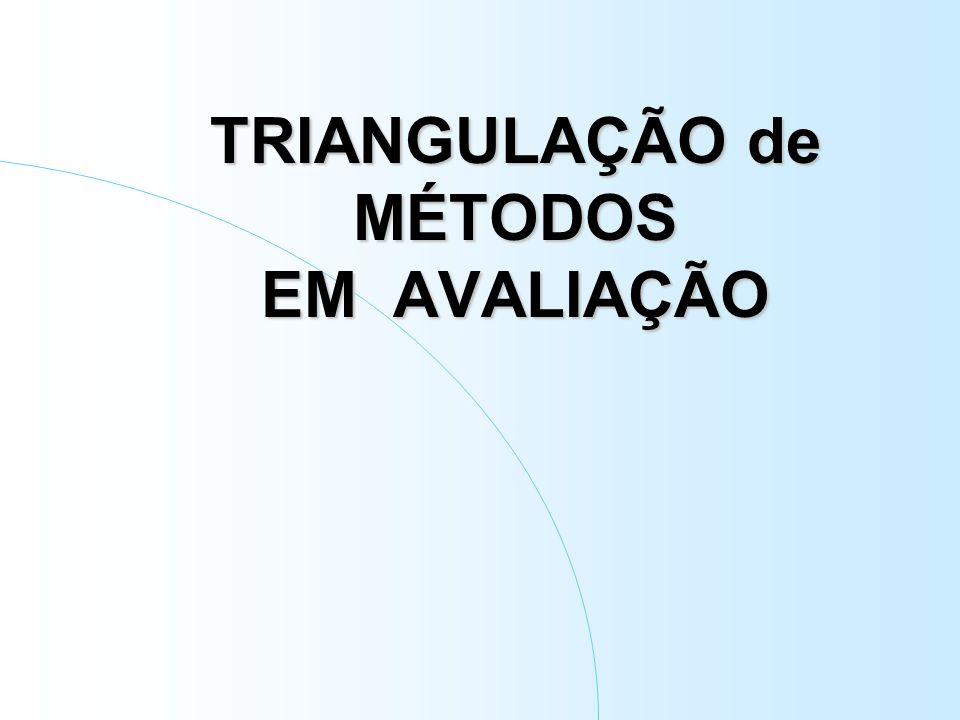 Triangulação de abordagens Campos disciplinares Racionalidades científicas Metodologias Técnicas Pesquisadores