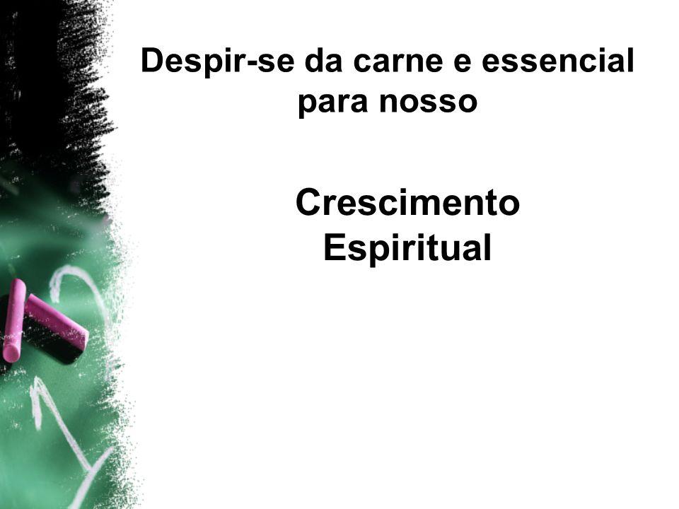Despir-se da carne e essencial para nosso Crescimento Espiritual