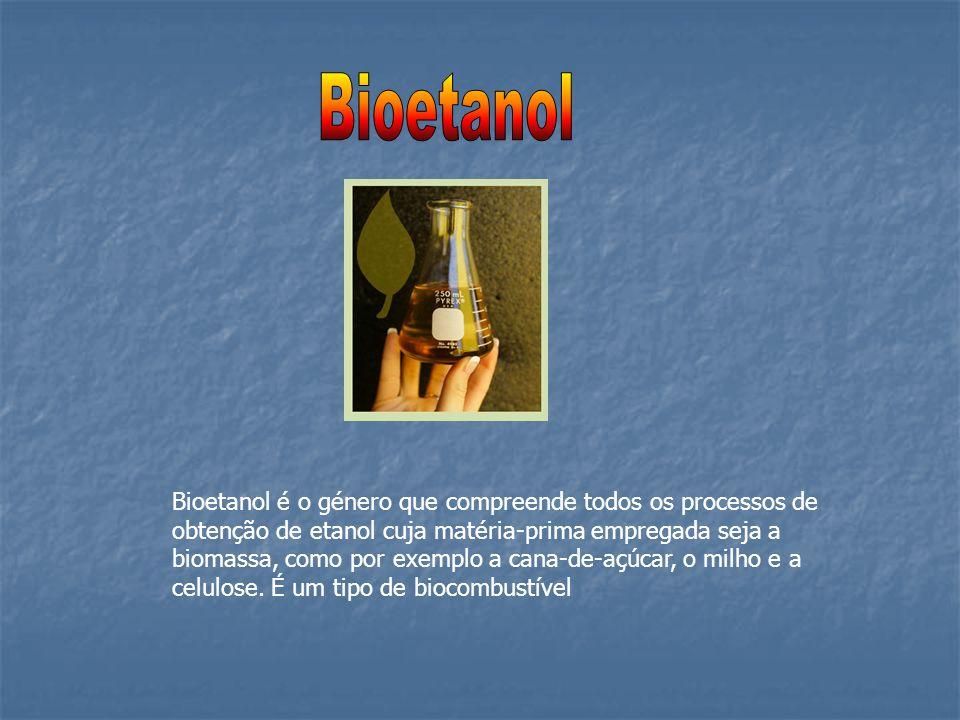 Bioetanol é o género que compreende todos os processos de obtenção de etanol cuja matéria-prima empregada seja a biomassa, como por exemplo a cana-de-