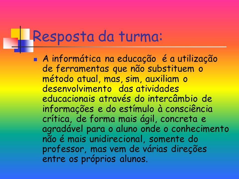 Informática na Educação no Brasil Nasce a partir do interesse de educadores de algumas universidades brasileiras Apesar da caminhada diferente, mesmos resultados – mudanças quase inexistentes do ponto de vista pedagógico
