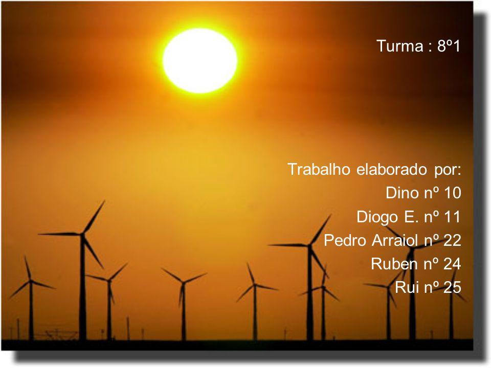 Turma : 8º1 Trabalho elaborado por: Dino nº 10 Diogo E. nº 11 Pedro Arraiol nº 22 Ruben nº 24 Rui nº 25