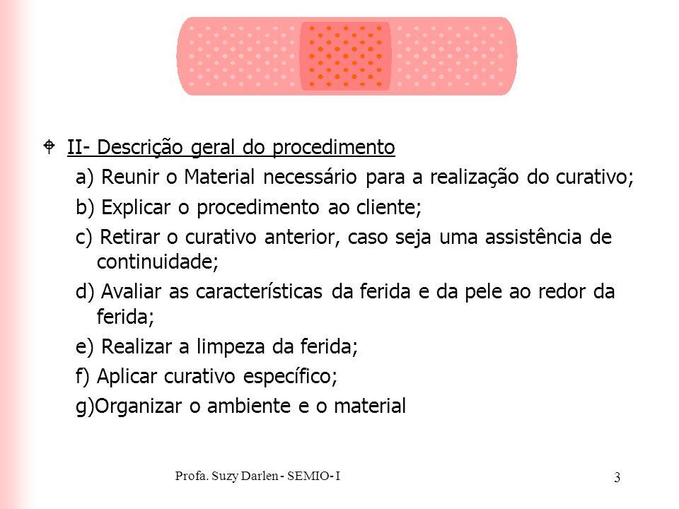 2 Realização do Curativo: O Diferencial da Assistência de Enfermagem WI- Finalidade cFacilitar a cicatrização; cEvitar ou reduzir a infecção; cRemover
