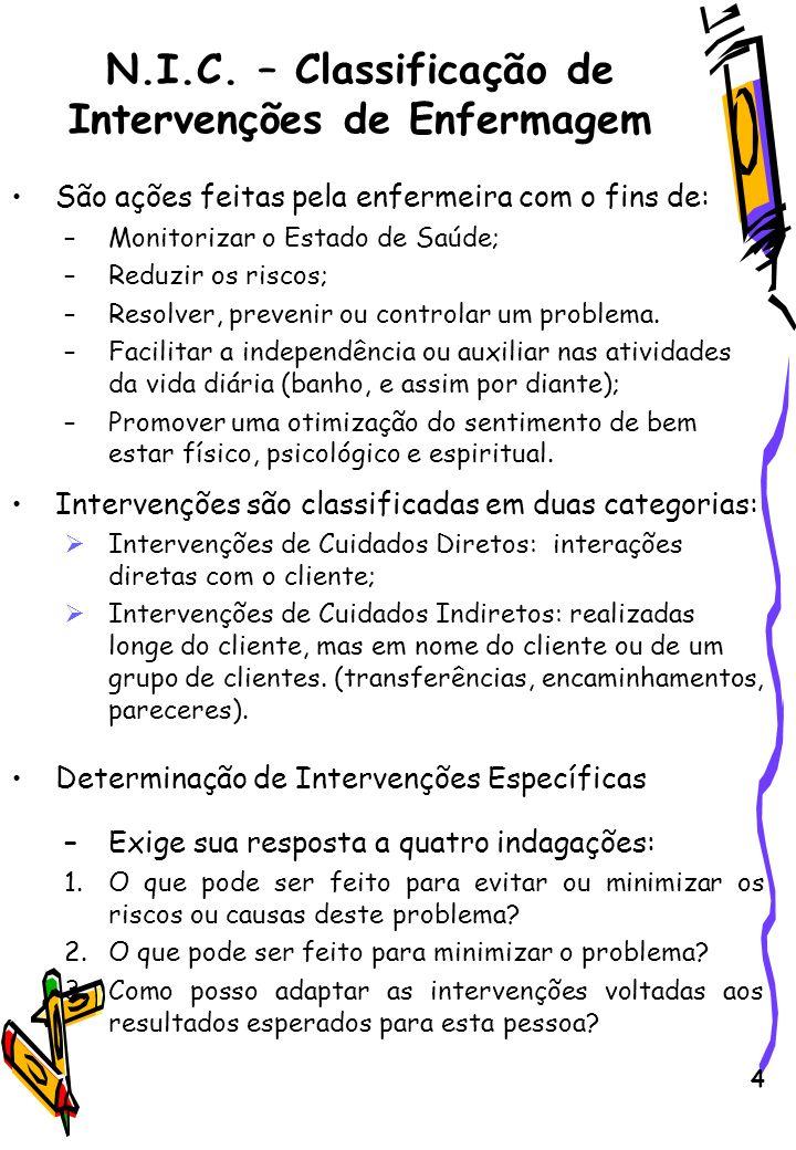 5 Determinação de Intervenções Específicas 4.Qual a nossa probabilidade de obter respostas versus respostas adversas as intervenções, e o que podemos fazer para reduzir os riscos e aumentar a possibilidade de respostas benéficas.