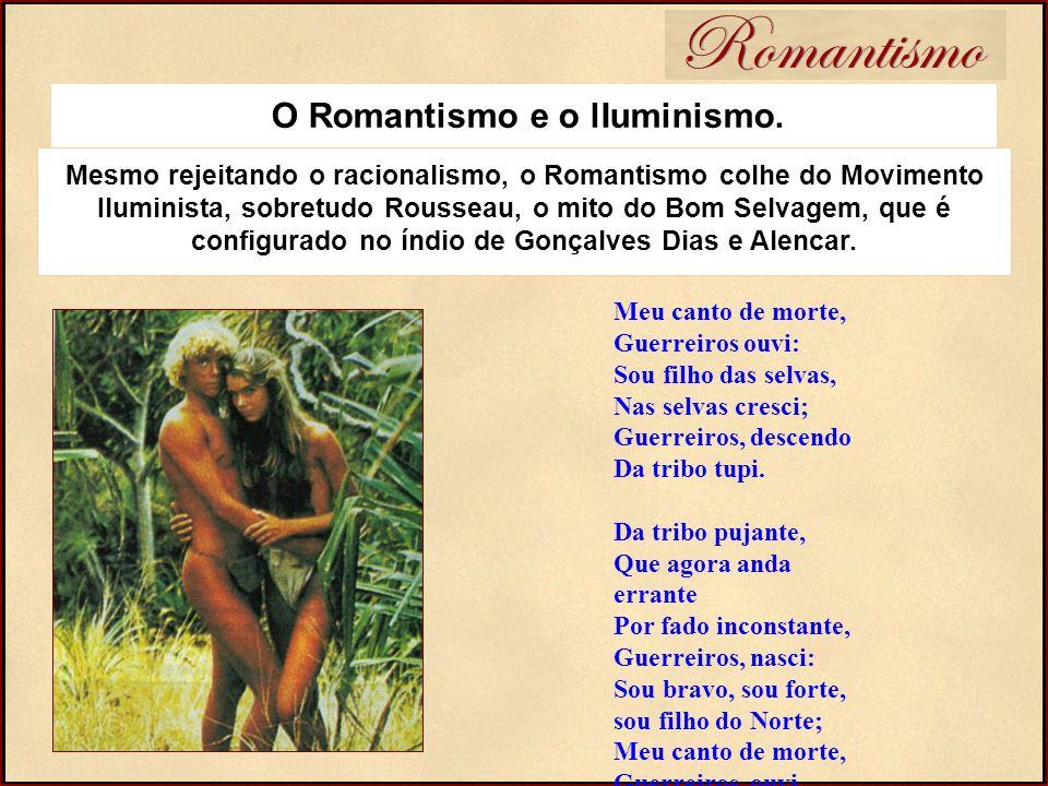 Romantismo O Romantismo e o lIuminismo. Meu canto de morte, Guerreiros ouvi: Sou filho das selvas, Nas selvas cresci; Guerreiros, descendo Da tribo tu