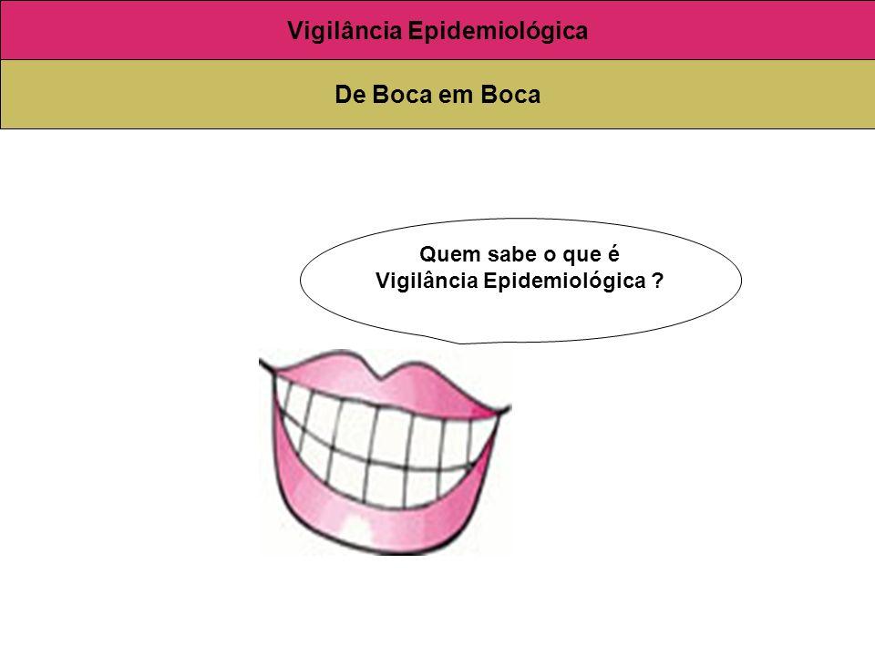 Quem sabe o que é Vigilância Epidemiológica ? Vigilância Epidemiológica De Boca em Boca