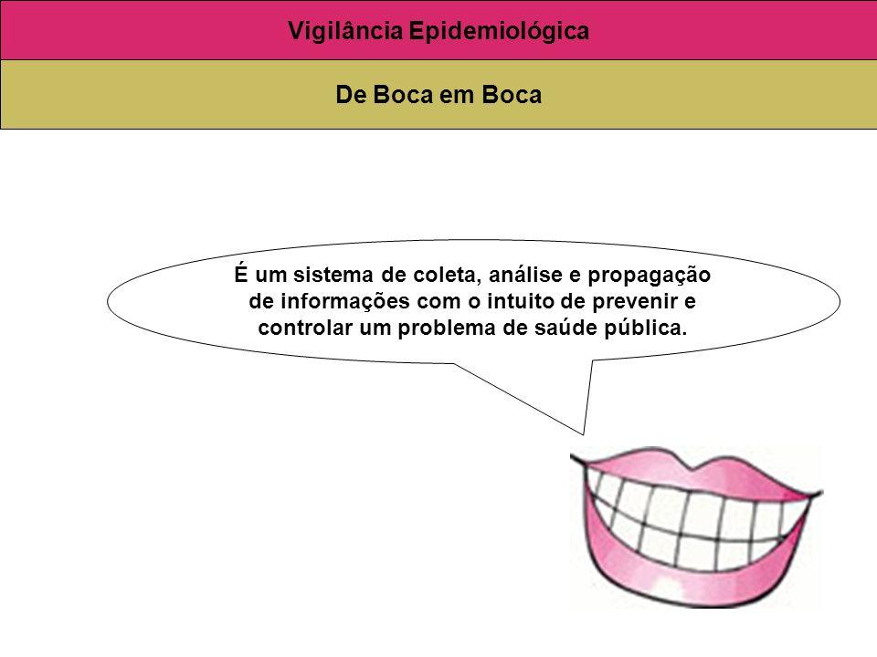 É um sistema de coleta, análise e propagação de informações com o intuito de prevenir e controlar um problema de saúde pública. Vigilância Epidemiológ