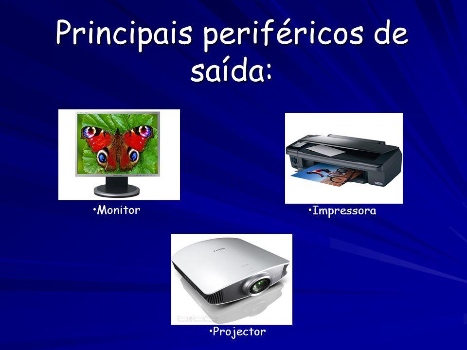Principais Periféricos de entrada e saída Modems Disco Rígido CD-ROM