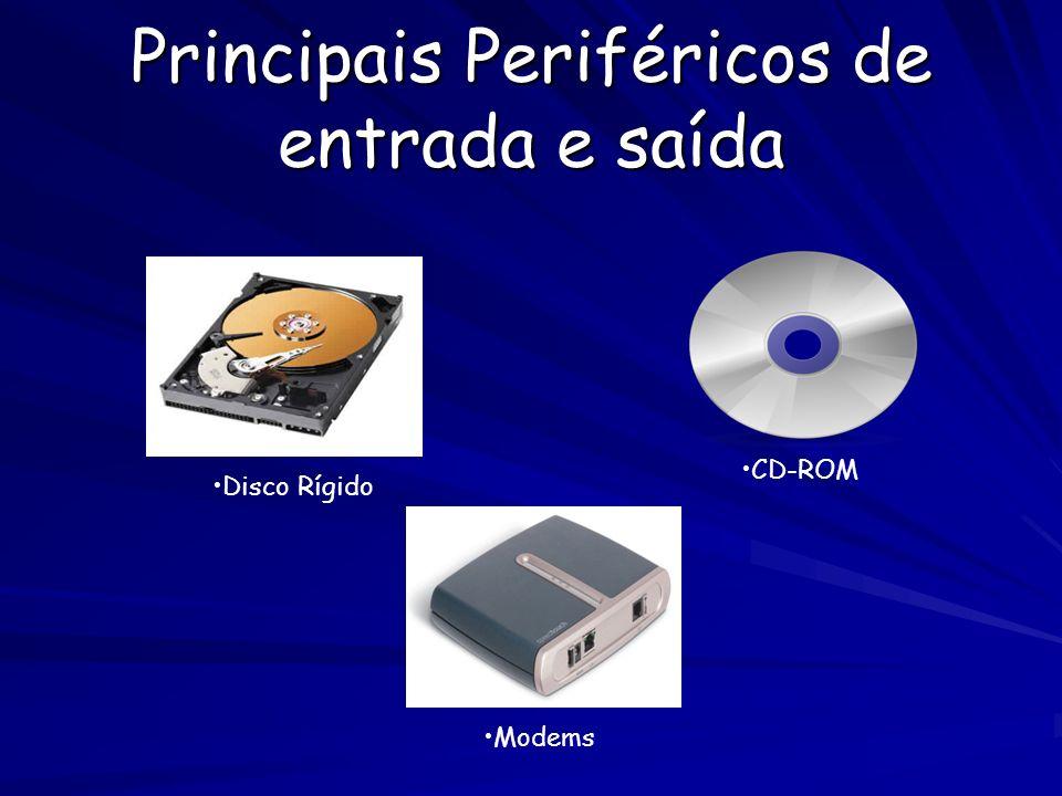 Principais periféricos de armazenamento externos: Disket PEN DRIVE CD`S, DVD