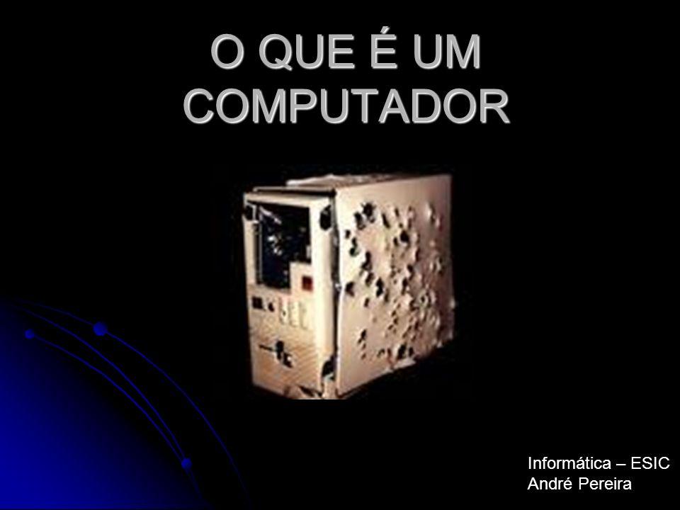 História dos Computadores O primeiro computador do mundo foi o ENIAC (Electronic Numerical Integrator and Computer), uma concepçao do Professor John Mauchly, conjuntamente com o professor J.