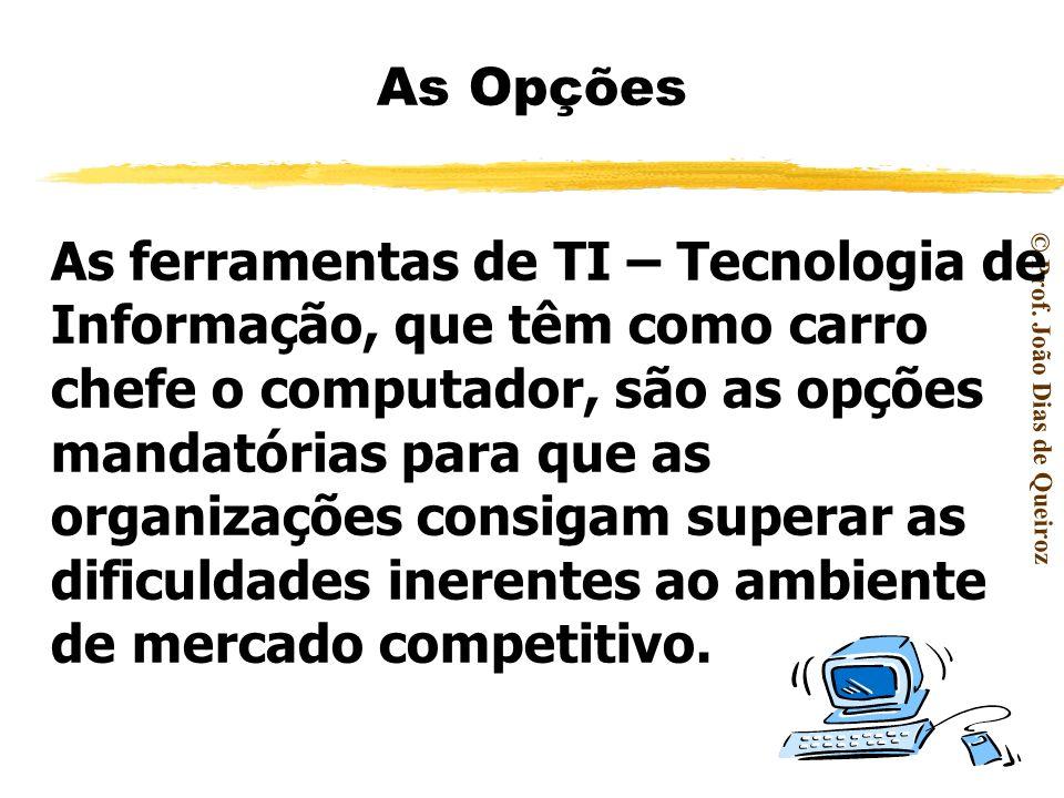 © Prof. João Dias de Queiroz DESAFIOS O grande desafio de toda organização é buscar melhor desempenho para se tornar mais produtiva e competitiva em u