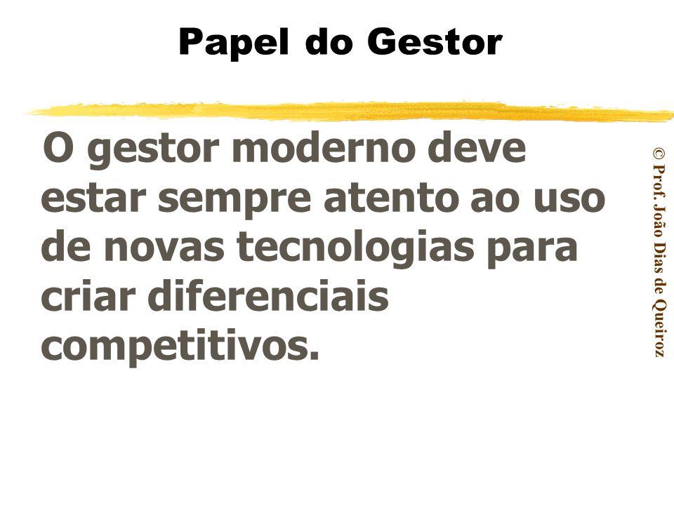 © Prof. João Dias de Queiroz As ferramentas de TI – Tecnologia de Informação, que têm como carro chefe o computador, são as opções mandatórias para qu
