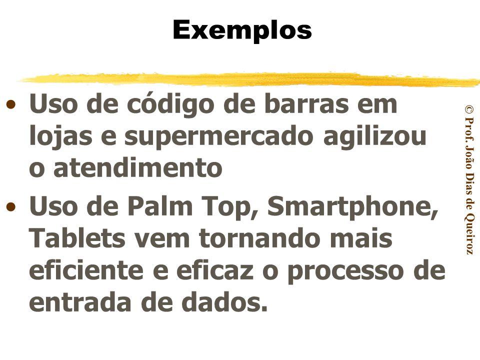 © Prof. João Dias de Queiroz O gestor moderno deve estar sempre atento ao uso de novas tecnologias para criar diferenciais competitivos. Papel do Gest