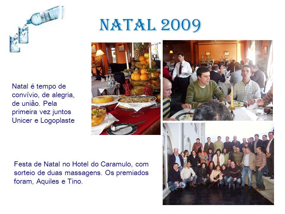 Natal 2009 Natal é tempo de convívio, de alegria, de união. Pela primeira vez juntos Unicer e Logoplaste Festa de Natal no Hotel do Caramulo, com sort