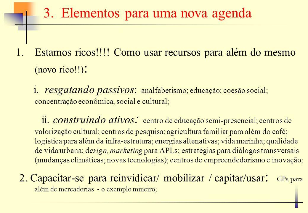 …elementos para uma nova agenda 1.