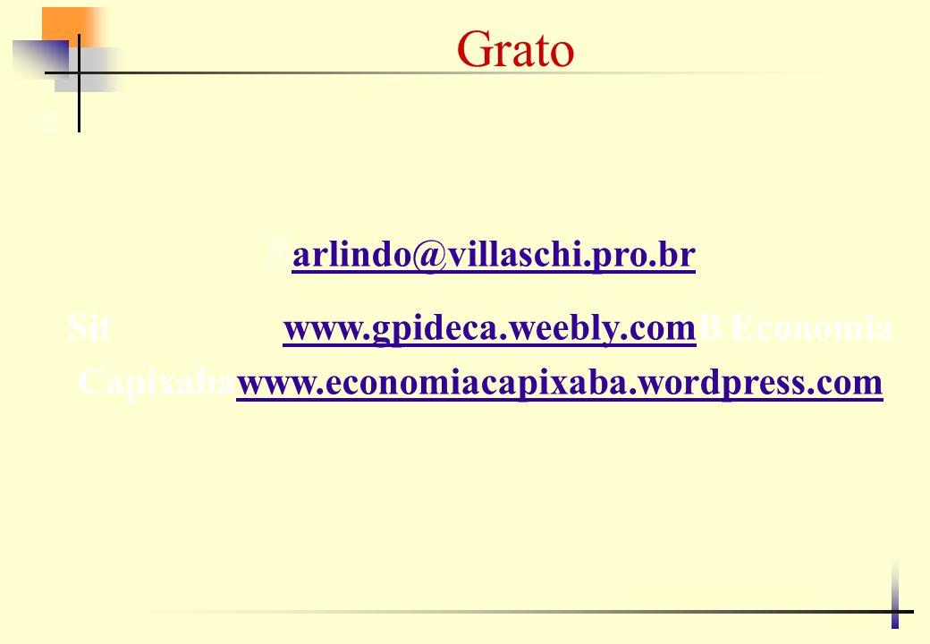 Grato 3 3arlindo@villaschi.pro.brarlindo@villaschi.pro.br Sit www.gpideca.weebly.comB Economia Capixabawww.economiacapixaba.wordpress.comwww.gpideca.w