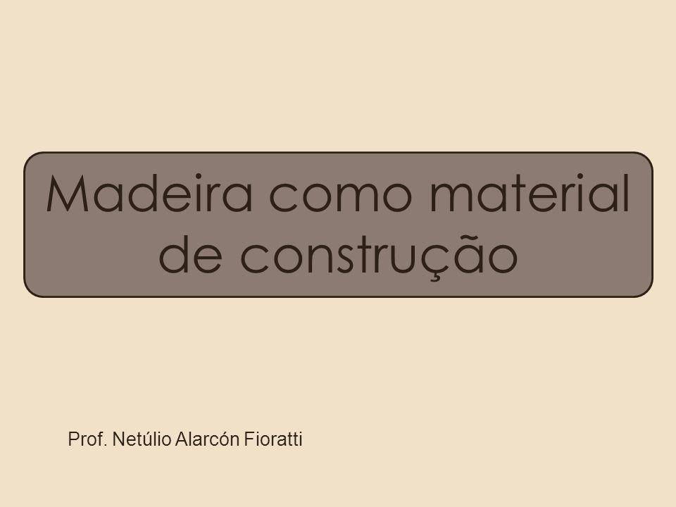 Madeira como material de construção Prof. Netúlio Alarcón Fioratti