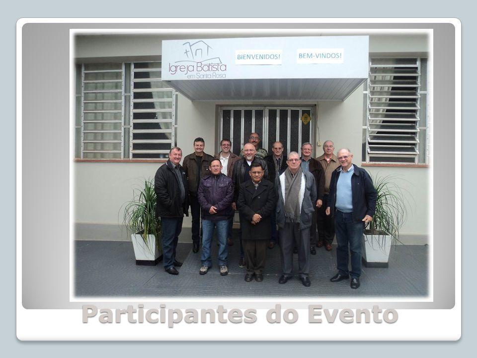 Participantes do Encontro: Da Asociación de Iglesias Bautistas Germano- Argentinas (AGA): Da Asociación de Iglesias Bautistas Germano- Argentinas (AGA): Pr.