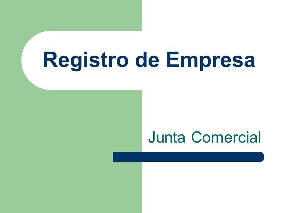 Registro de Empresa Junta Comercial