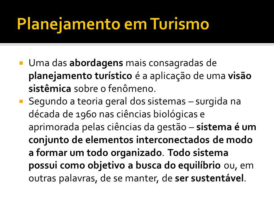 No Turismo há várias definições sistêmicas – que serão discutidas em FT2X2.