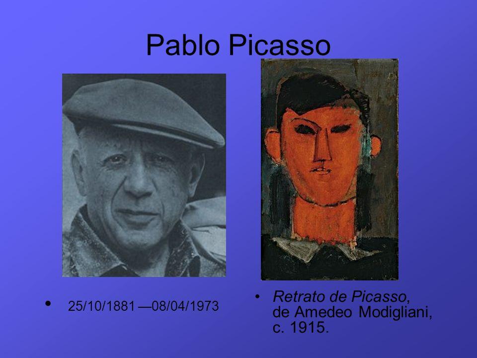 Pablo Picasso Retrato de Picasso, de Amedeo Modigliani, c. 1915. 25/10/1881 08/04/1973