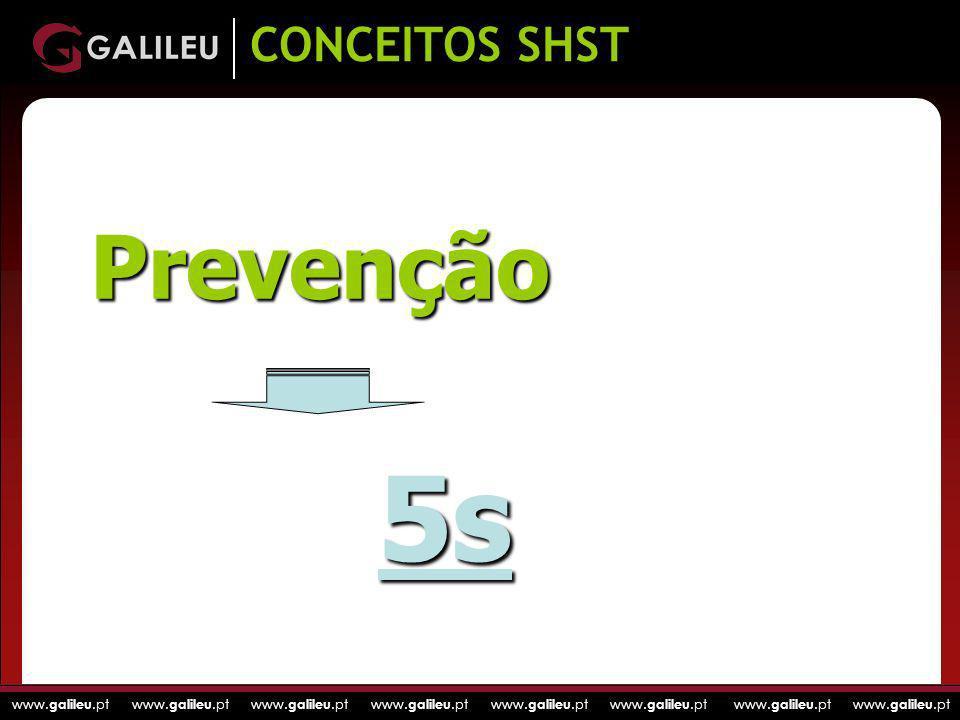 www. galileu.pt www. galileu.pt www. galileu.pt www. galileu.pt CONCEITOS SHST Prevenção 5s
