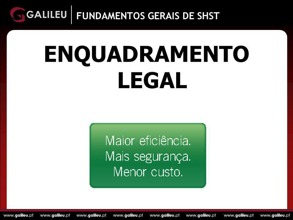 www. galileu.pt www. galileu.pt www. galileu.pt www. galileu.pt ENQUADRAMENTO LEGAL FUNDAMENTOS GERAIS DE SHST