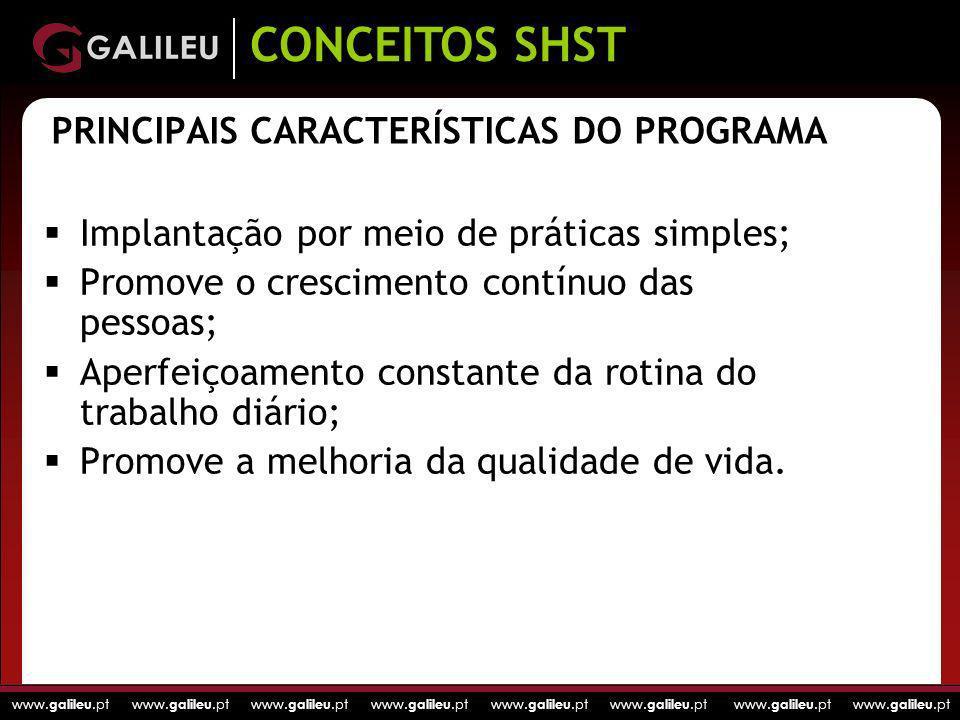 www. galileu.pt www. galileu.pt www. galileu.pt www. galileu.pt PRINCIPAIS CARACTERÍSTICAS DO PROGRAMA Implantação por meio de práticas simples; Promo