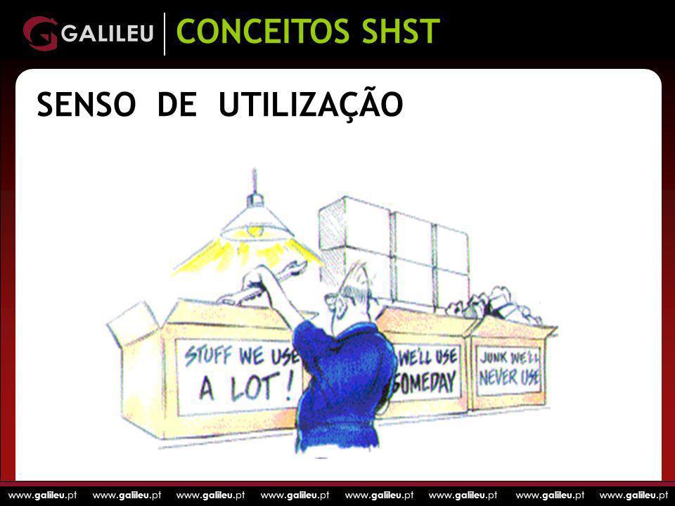 www. galileu.pt www. galileu.pt www. galileu.pt www. galileu.pt SENSO DE UTILIZAÇÃO CONCEITOS SHST
