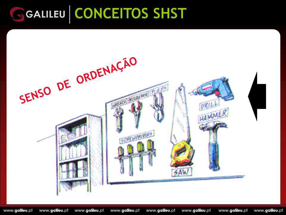 www. galileu.pt www. galileu.pt www. galileu.pt www. galileu.pt SENSO DE ORDENAÇÃO CONCEITOS SHST