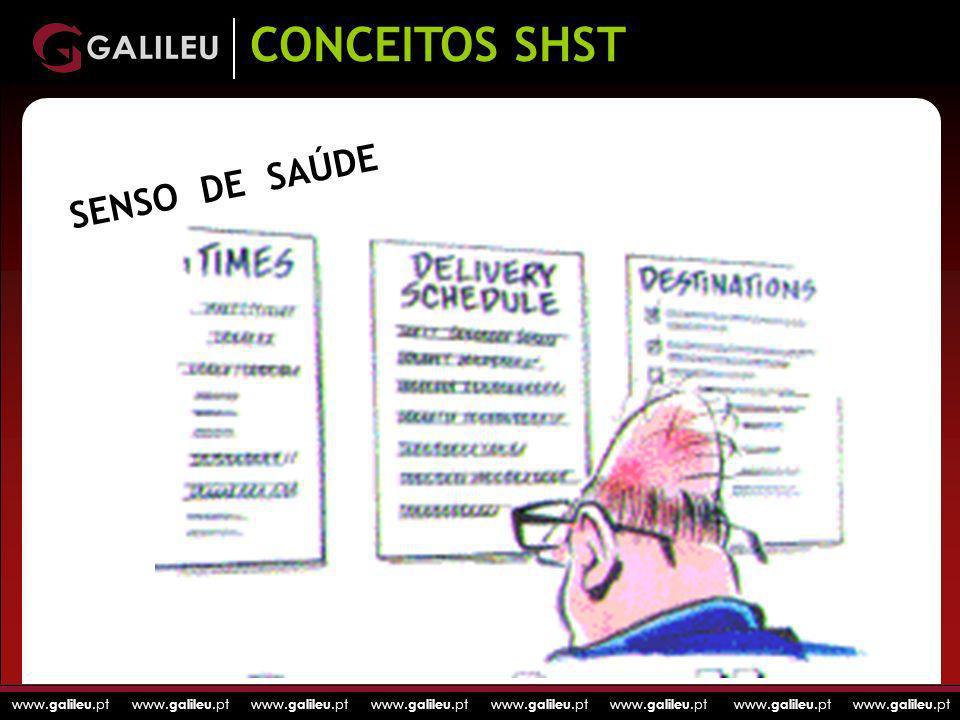 www. galileu.pt www. galileu.pt www. galileu.pt www. galileu.pt SENSO DE SAÚDE CONCEITOS SHST