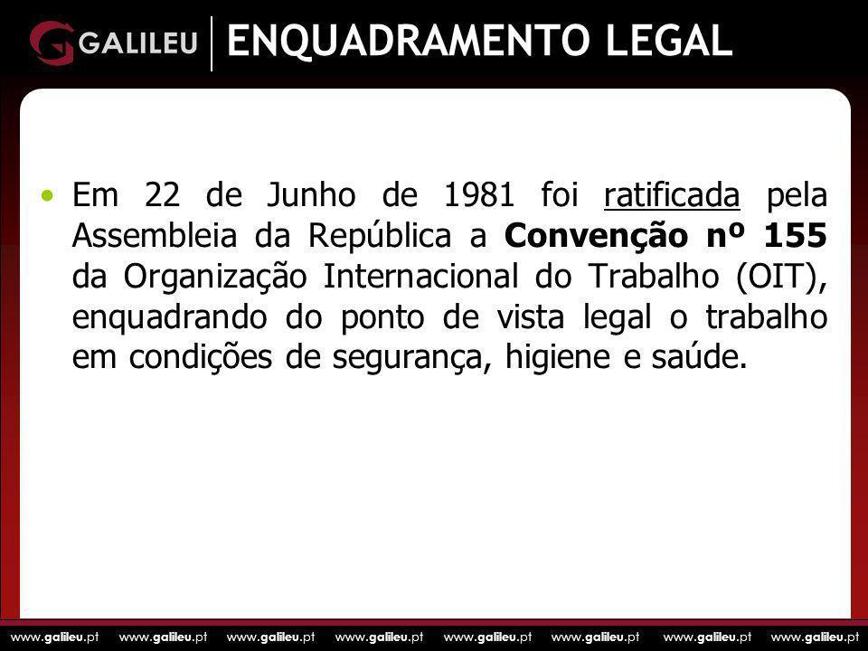 www. galileu.pt www. galileu.pt www. galileu.pt www. galileu.pt ENQUADRAMENTO LEGAL ratificadaEm 22 de Junho de 1981 foi ratificada pela Assembleia da