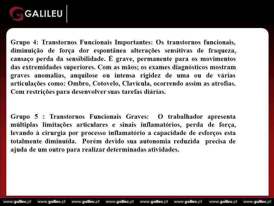 www. galileu.pt www. galileu.pt www. galileu.pt www. galileu.pt Grupo 4: Transtornos Funcionais Importantes: Os transtornos funcionais, diminuição de