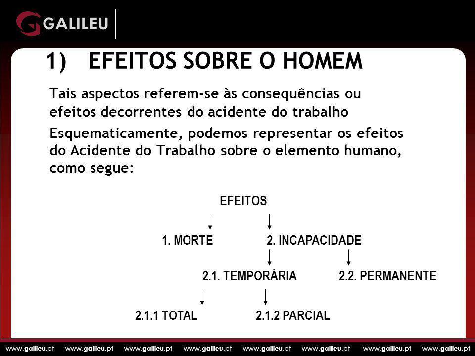 www. galileu.pt www. galileu.pt www. galileu.pt www. galileu.pt 1)EFEITOS SOBRE O HOMEM Tais aspectos referem-se às consequências ou efeitos decorrent