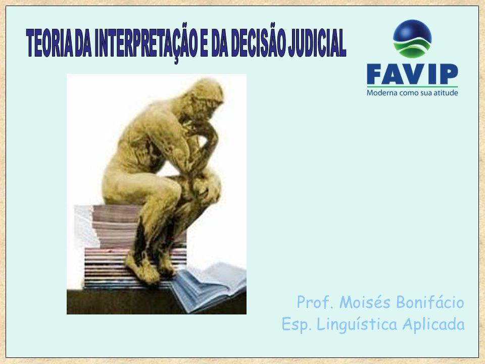 Prof. Moisés Bonifácio Esp. Linguística Aplicada