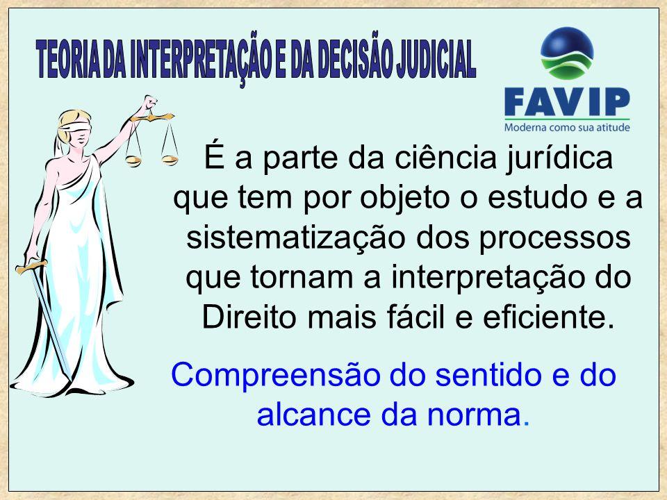 É a parte da ciência jurídica que tem por objeto o estudo e a sistematização dos processos que tornam a interpretação do Direito mais fácil e eficient