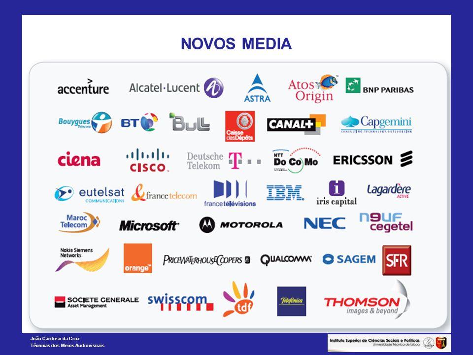 João Cardoso da Cruz Técnicas dos Meios Audiovisuais NOVOS MEDIA