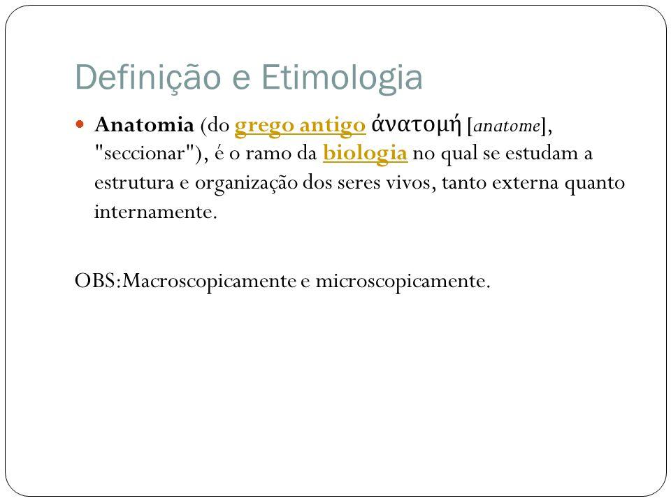 Definição e Etimologia Anatomia (do grego antigo νατομή [anatome],