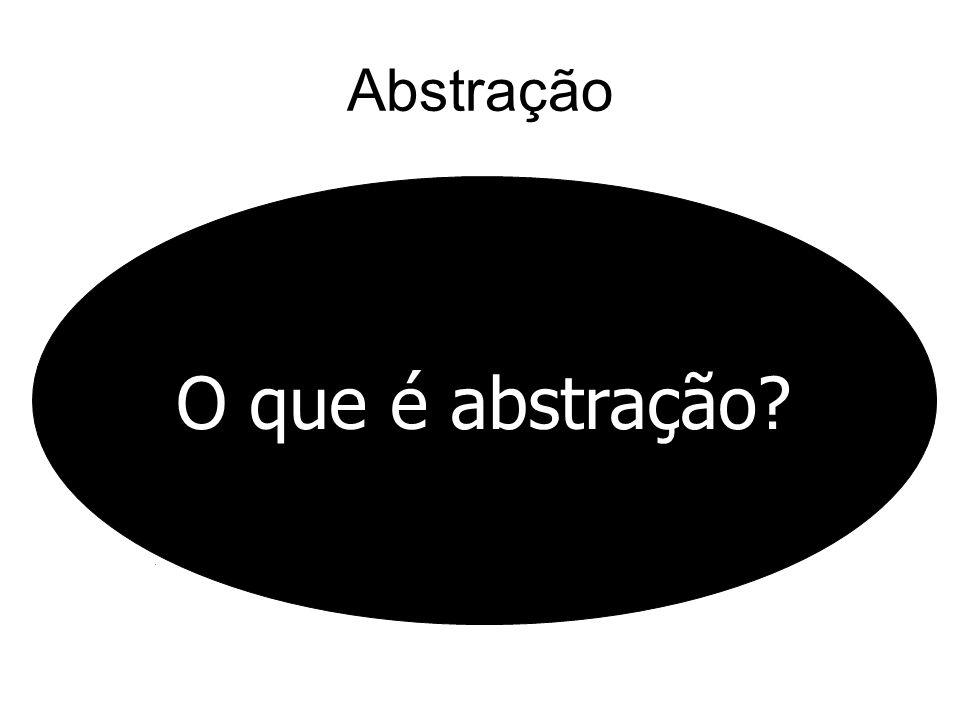 Abstração O que é abstração?