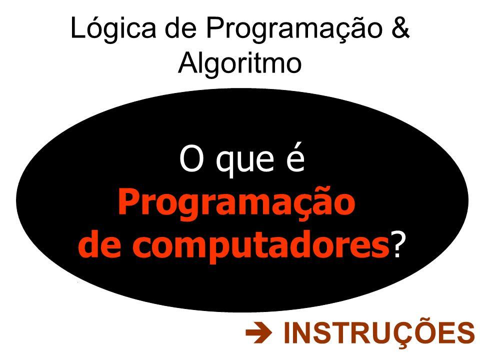 Lógica de Programação & Algoritmo O que é Programação de computadores? INSTRUÇÕES
