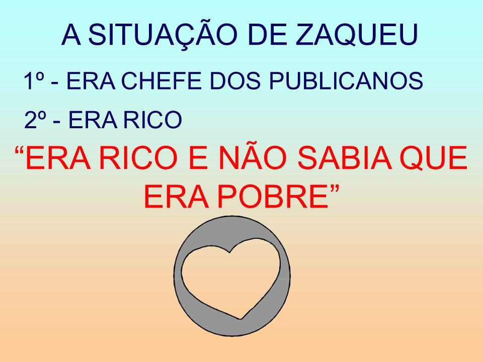 1º - ERA CHEFE DOS PUBLICANOS 2º - ERA RICO ERA RICO E NÃO SABIA QUE ERA POBRE