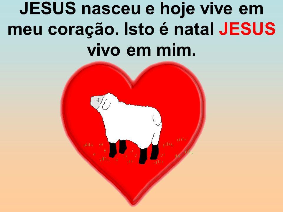 JESUS nasceu e hoje vive em meu coração. Isto é natal JESUS vivo em mim.