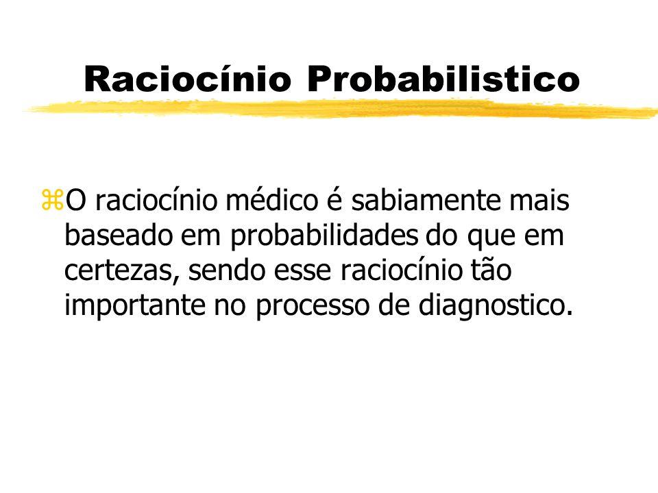 Raciocínio Probabilistico zO raciocínio médico é sabiamente mais baseado em probabilidades do que em certezas, sendo esse raciocínio tão importante no