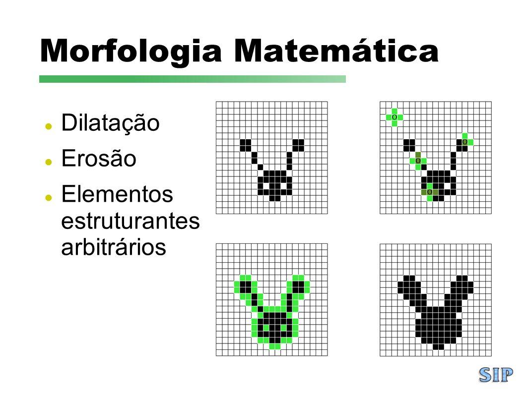 Morfologia Matemática Dilatação Erosão Elementos estruturantes arbitrários