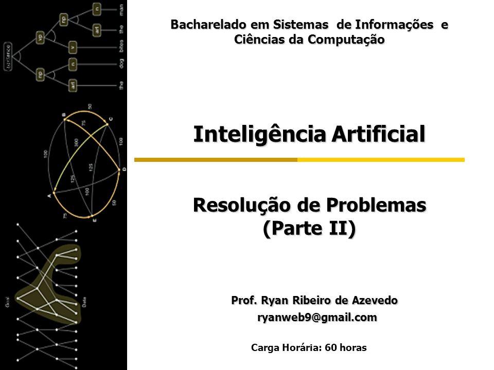 Inteligência Artificial Resolução de Problemas (Parte II) Prof. Ryan Ribeiro de Azevedo Prof. Ryan Ribeiro de Azevedo ryanweb9@gmail.com ryanweb9@gmai